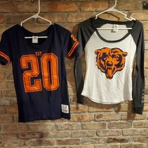 2 PINK CHICAGO BEARS SHIRTS S/XS